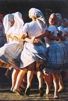 "slovak-folk-costumes: "" Stylizated Zemplín region, Eastern Slovakia. You can watch dance performance here. """