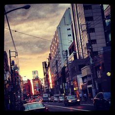 Afternoon in Aoyama when the sky is a lorious blaze