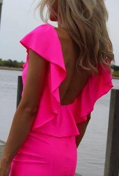 Oh summer!! Pink Dress, Tan skin.