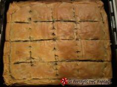 Η κλασική συνταγή της σπανακόπιτας χωρίς τυρί. Savory Muffins, Savory Tart, Cheese Pies, Spanakopita, Wine Recipes, Healthy Living, Vegetarian, Cooking, Ethnic Recipes