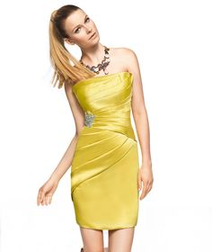 Pronovias Zohar cocktail dress 2013 Short Dress Collection.   Option 2