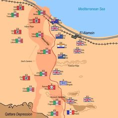 Second Battle of El Alamein - map of forces deployment on October 23, 1942.