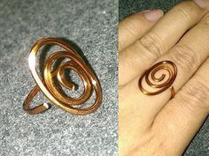 Tutorial simple double waves rings for beginners - Handmade jewelery - YouTube