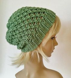 Hand crocheted beanie slouchy beanie knit beanie by ChildCrochet, $12.00