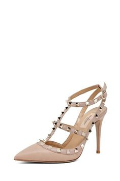 Valentino Rockstud Sling Back T.100 In Powder