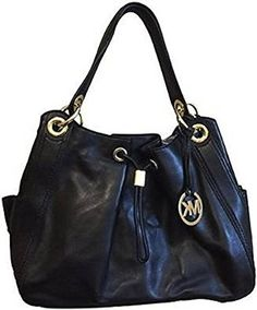 Michael Kors Ludlow Large Shoulder Bag in Black Leather