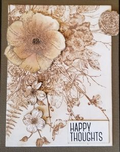 Glorious Garden stamp by Tim Holtz, and Distress Oxides. Design by Debra Lord for Scrappin' in the City. Distress Oxides, Tim Holtz, Card Ideas, Vintage World Maps, Mixed Media, Card Making, Lord, Paper Crafts, Stamp