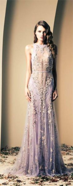 if purple is the color, then why not haute couture, this gown would just scream, look im a  bride and getting married, celebrate with me.   Ziad Nakad Haute Couture