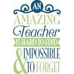 Silhouette Design Store - View Design #89788: an amazing teacher title