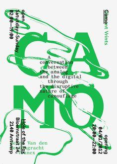 Vincent VrintsCamo - Poster for exhibition at H.O.T.Foxwith Benny Van Den Meulengracht-Vrancx, 2012(via Cargo Gallery)