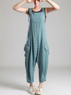 LYOCELL OVERALLS WITH EXTRA LOW CROTCH
