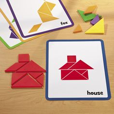 """Tangrams are a great manipulative to use in any math class. They help students… Preschool Math, Kindergarten Math, Maths, 2nd Grade Math, Math Class, Math Games, Learning Activities, Teaching Shapes, Product Development"
