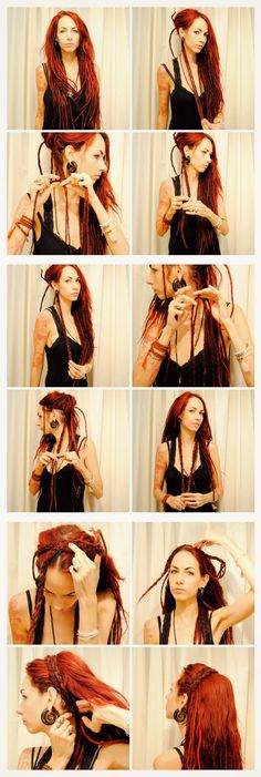 How to make a braid headband of your dreadlocks Peinador, tutoriales
