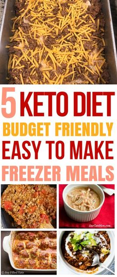 These KETO recipes are THE BEST for my weight loss journey. I'm so glad I found these keto freezer meals that will help me lose weight and stick to my budget. #keto #ketodinners #frugal #mealprep #freezermeals
