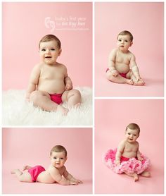 Lots of PINK!  6 month photo session