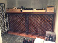 Lattice style iron wine racks by FunkyLivingCA on Etsy, $25.50