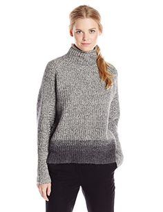 Buy Elie Tahari Women's Mabelle Cashmere Blend Turtleneck Sweater, Oyster/Granite, X-Small - http://womenssweaters.hzhtlawyer.com/buy-elie-tahari-womens-mabelle-cashmere-blend-turtleneck-sweater-oystergranite-x-small/