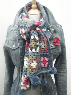 Granny Square Scarf by The Sewing Mistress, via Flickr
