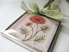 October - Birthday Month Flower -  Marigold - 3x3 Beveled Glass - Art Print Ornament-Birthday Gift for Mom-Friend-Sister - Floral Flora Art by digiliodesigns on Etsy https://www.etsy.com/listing/194411973/october-birthday-month-flower-marigold