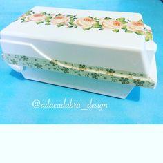 #diy #decor #art #arte #artesania #design #diseño #craft #crafting #handmade #handcraft #hechoamano #decoupage #cute #servilletas #reciclaje #recicla #disk #diskholder #reciclar #flowers #rose #box