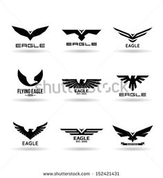 Find Eagles 7 stock images in HD and millions of other royalty-free stock photos, illustrations and vectors in the Shutterstock collection. Thousands of new, high-quality pictures added every day. Typo Logo Design, Logo Design Trends, Branding Design, Eagle Silhouette, Silhouette Curio, Sparta Design, Masculine Tattoos, Eagle Images, Eagle Vector