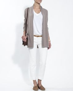 Woman pure cashmere long cardigan