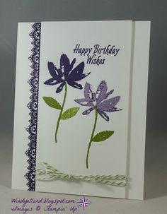 Windy's Wonderful Creations: Avant Garden Birthday Wishes!, Stampin' Up!, Delicate Details, Avant Garden