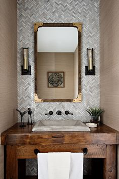 Bathroom vanity built by Rebarn