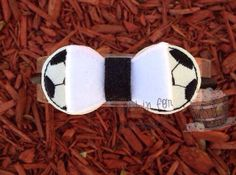 Soccer Ball Bow Embellishment ITH In the Hoop by Bobbin4appliques, $5.00