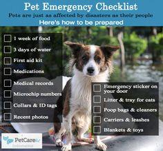 Are You Prepared? Pet Emergency Checklist Infomeme
