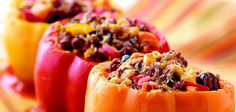 Crock Pot- Stuffed Peppers- mexican style