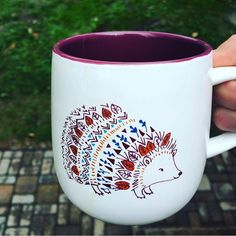 Caribou Coffee Hedgehog Mug