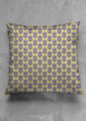Accent Pillow - Luster Square: A modern, bright accent with an artist's touch, each pillow is cut with cotton and makes an elegant addition to any room. Accent Pillows, Louis Vuitton Damier, Sunglasses Case, Van, Pattern, Gold, Blue, Vintage, Beautiful