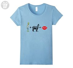 Womens Zombie Apocalypse Alpaca Llama Lips Survival Birthday Shirt Medium Baby Blue - Birthday shirts (*Amazon Partner-Link)