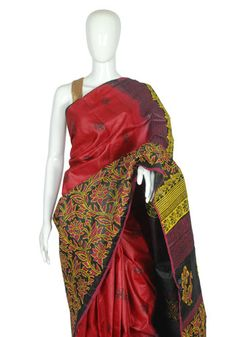 Tussar Silk Blockprinted Saree – Desically Ethnic