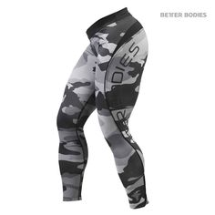 Lepší Bodies Camo Long Tights- Gray