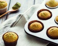 Muffins légers au miel et thé matcha