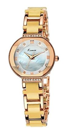 Tidoo Watches Noble Lady Series Womens Luxury Dress Watch WristWatch Analog Display White Nacre Dial Japaneses Quartz Movement Staintless Steel Gold Plated Case Yellow Bracelet Band Luxury Water ResistantShinning And Expensive LookingBest Gift for Female GirlFriend Lover Birthday Anniversary Valentines Day And Christmas 508S >>> Learn more by visiting the image link.