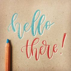 Hello there! Testing out some new pencils on a cheap notepad cover at work. Brush Lettering, Hand Lettering, Brush Pen, Pencil, Cover, Instagram, Art, Art Background, Handwriting
