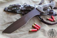 Miller Bros. Blades Jungle Sword. This model is available in Z-Wear PM, CPM 3V,, Z-Tuff PM steel. Miller Bros. Blades Custom Handmade Knives, Swords & Tomahawks.