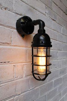 Bunker cage industrial light. Black. Silver. Industrial style lighting - Fat Shack Vintage - Fat Shack Vintage