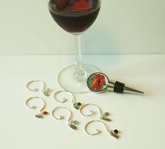 Party Fun Hostess Set Wine Bottle Stopper by JustforJoyCreations, $25.00