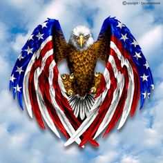 Patriotische Tattoos, Cool Tattoos, Tatoos, Naval Tattoos, Soccer Tattoos, American Flag Eagle, American Pride, Tatto Eagle, Desenho New School