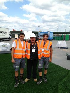 easi owner, Anthony Gallagher with two of the easiEvent team #easigrass #artificialgrass #events #festival