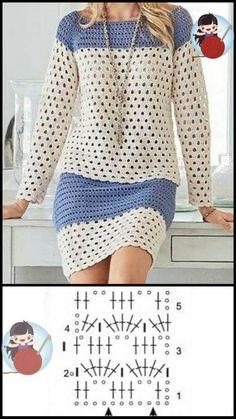 Chunky Knitting Patterns, Basic Crochet Stitches, Crochet Patterns, Crochet Pouf, Crochet Lace, Urban Fashion Trends, Crochet Shirt, Crochet Fashion, Crochet Clothes