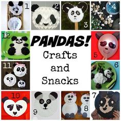 Panda Crafts and Panda Snacks- The perfect panda crafts whether you're studying pandas, learning about China (I am going to add a panda craft to our Chinese New Year unit!)– or you just love these adorable bears!.