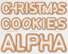 "Digital #Gingerbread Cookies #Alphabet #Clipart Clip Art ""Christmas Cookie"" alphabet, xmas letters with gingerbread textures  This alphabet clip art contains 36 different lett... #etsy #digiworkshop #scrapbooking #illustration #creative #clipart #printables #cardmaking #christmas #gingerbread #alphabet #cookie #letters"