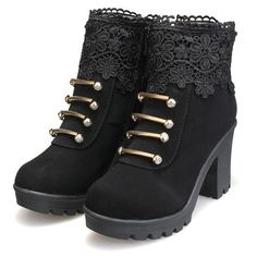 Leather Lace Chunky Heel Boots (Available from: http://www.newchic.com/boots-3599/p-1034119.html)