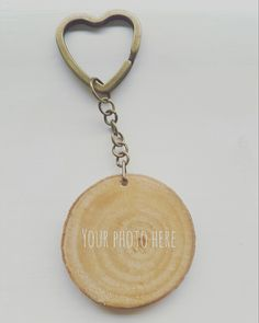 Handmade Personalised wooden keyring, add your own photo and name Branches, Personalized Items, Cotton, Handmade, Hand Made, Craft, Eggplants