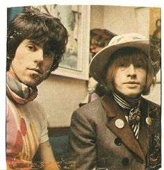 Keith Richards and Brian Jones of The Rolling Stones